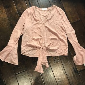 ✨NWT The Impeccable Pig Bell Sleeve Knot Blouse